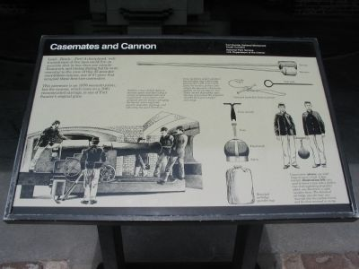 Casemates and Cannon Marker image. Click for full size.