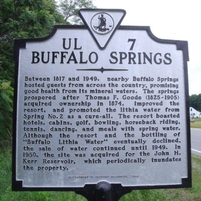 Buffalo Springs Marker image. Click for full size.