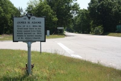 James H. Adams Marker, looking east image. Click for full size.