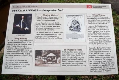 Buffalo Springs – Interpretive Trail Marker image. Click for full size.