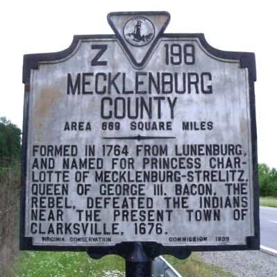 Mecklenburg County Marker image. Click for full size.