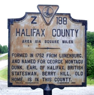Halifax County Marker image. Click for full size.