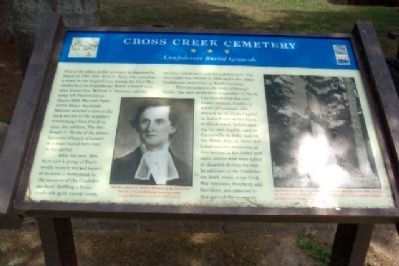 Cross Creek Cemetery Marker image. Click for full size.