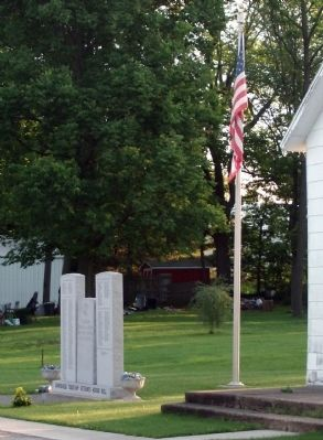 Looking North/East - - Grandview Township Veterans Honor Roll Marker image. Click for full size.