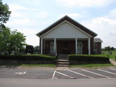 The First Cedar Creek Baptist Church and Marker image. Click for full size.