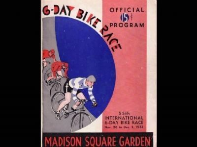 Program from Madison Square Garden image. Click for full size.