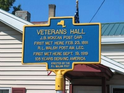 Veterans Hall Marker image. Click for full size.