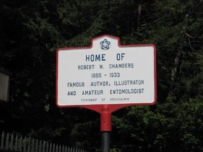 Home of Robert W. Chambers Marker image. Click for full size.