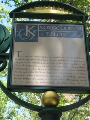 Knox-Goodrich Building Marker image. Click for full size.