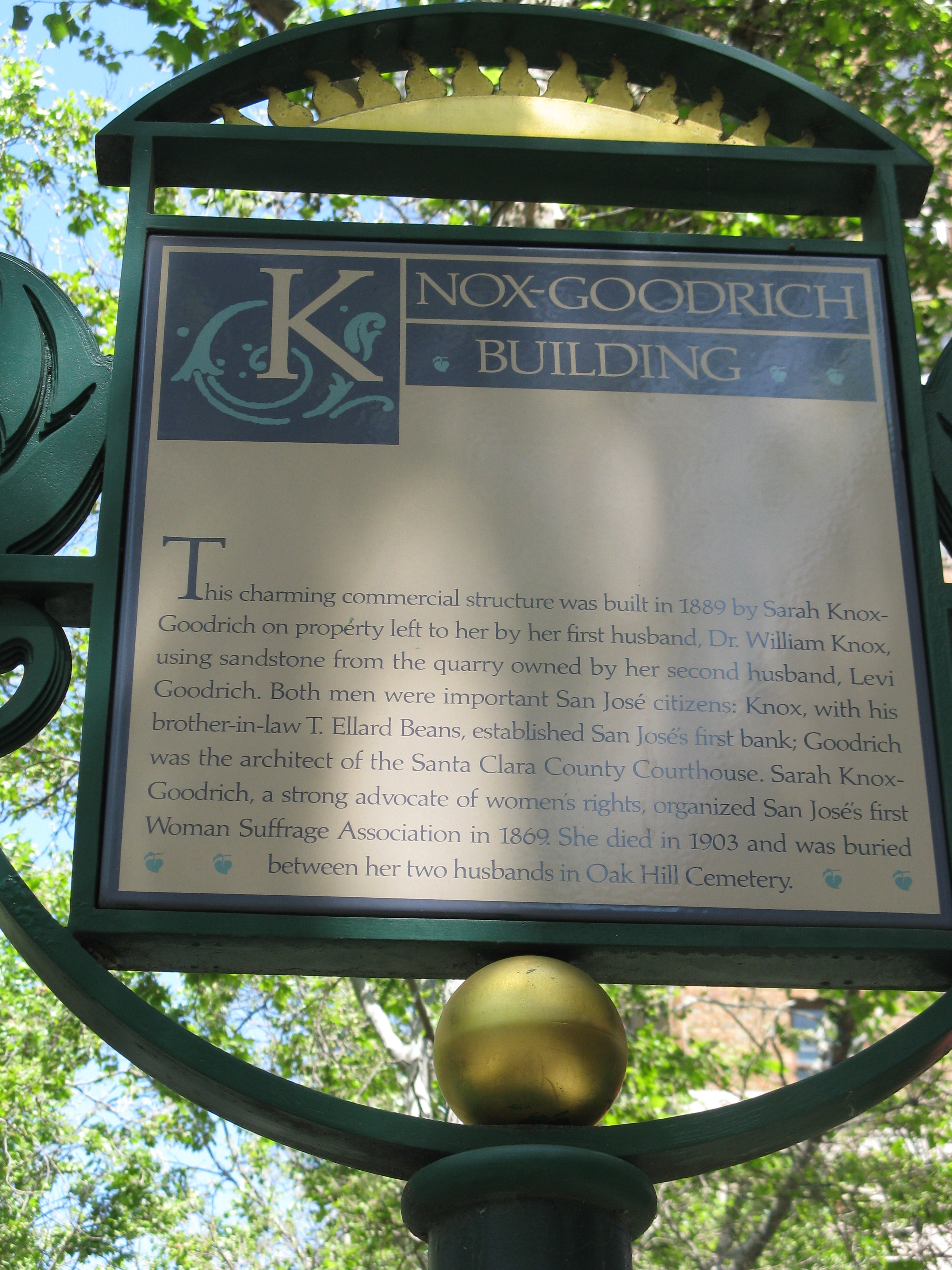 Knox-Goodrich Building Marker
