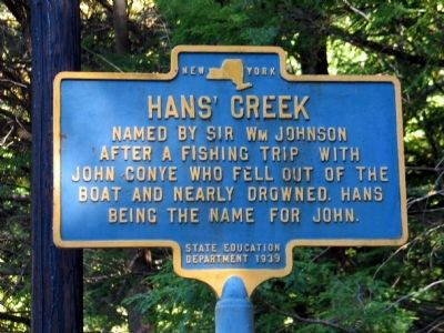 Hans' Creek Marker image. Click for full size.