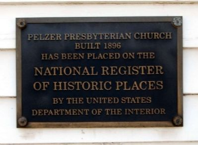 Pelzer Presbyterian Church Marker image. Click for full size.