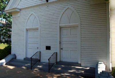 Pelzer Presbyterian Church -<br>South (Front) Entrance image. Click for full size.
