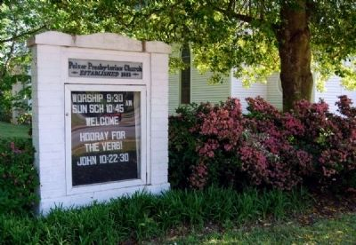 Pelzer Presbyterian Church Sign image. Click for full size.