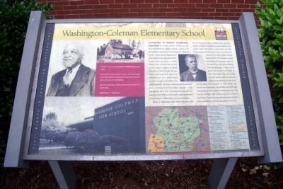 Washington-Coleman Elementary School CRIEHT Marker image. Click for full size.