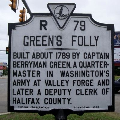 Green's Folly Marker image. Click for full size.