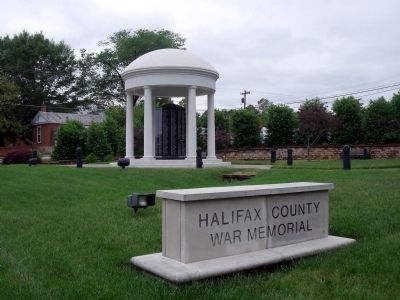 Halifax County War Memorial image. Click for full size.