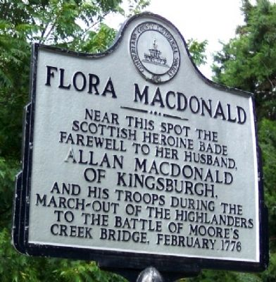 Flora Macdonald Marker image. Click for full size.