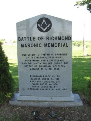 Battle of Richmond Masonic Memorial Marker image. Click for full size.