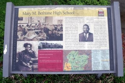 Mary M. Bethune High School CRIEHT Marker image. Click for full size.