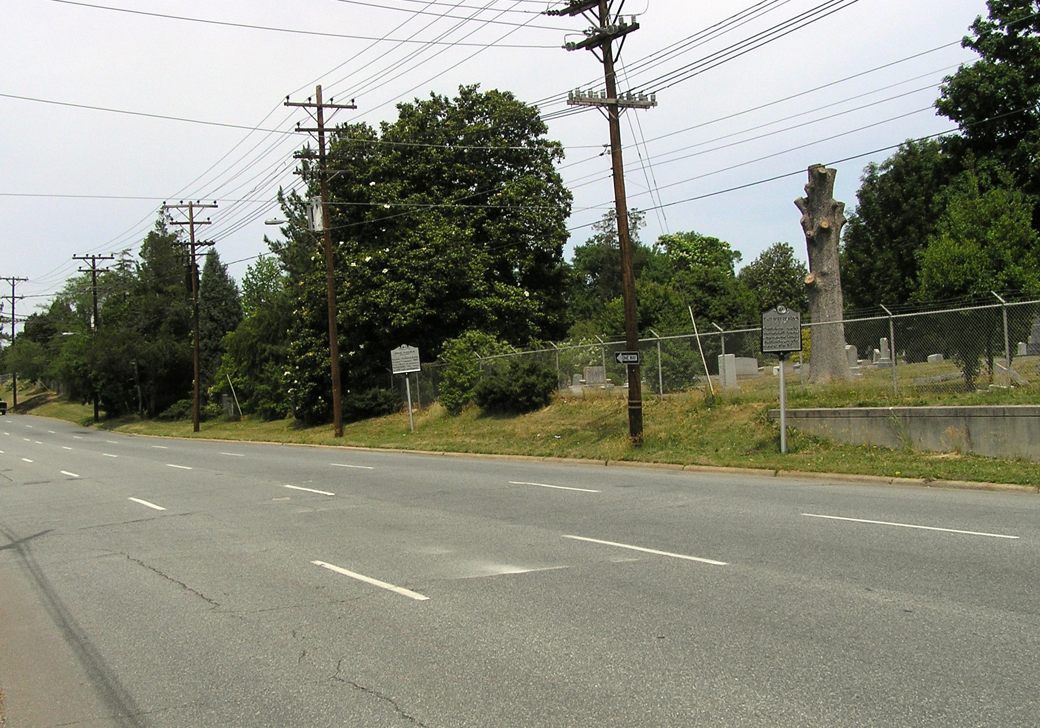 Wide view of the David Schenck Marker