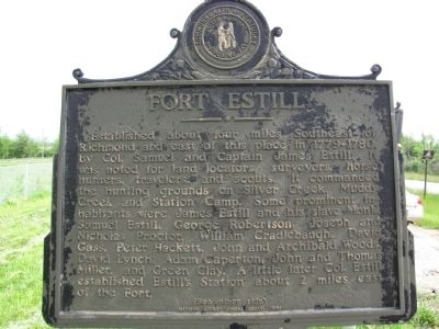 Fort Estill Marker image. Click for full size.