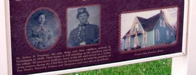 Dr. and Mrs. Freeman / Present Day Freeman House - Displayed on Left Panel image. Click for full size.