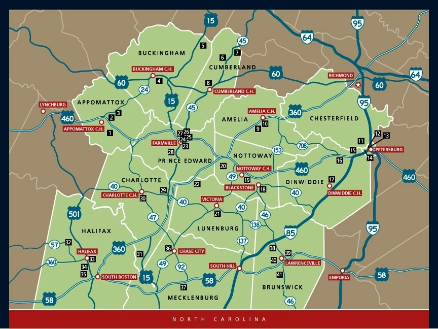 Civil Rights in Education Heritage Trail® Map