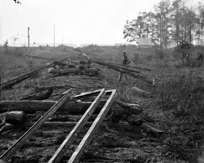 Destruction of the Orange & Alexandria RR image. Click for full size.