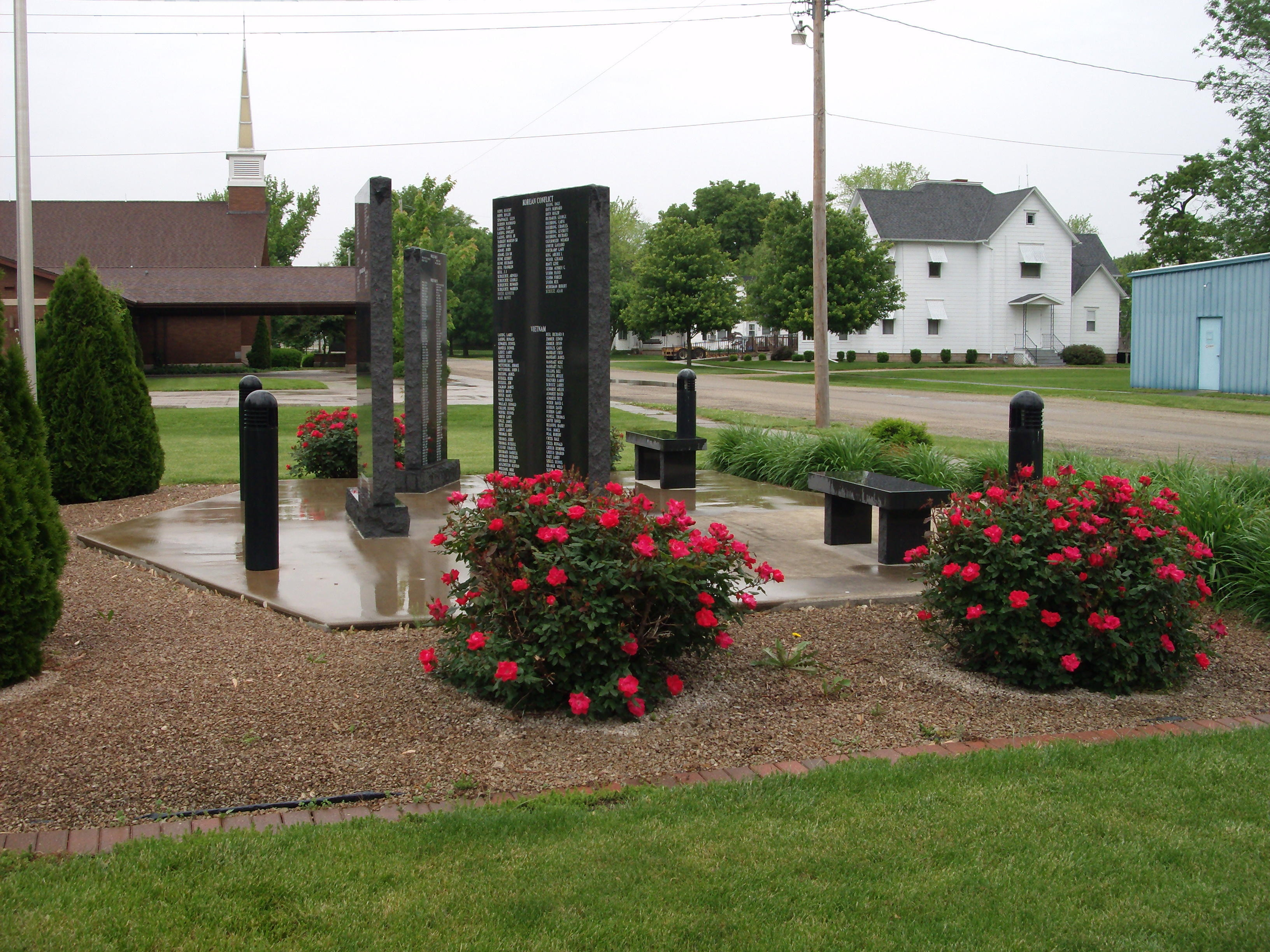 Left Side View - - Strasburg Veterans Memorial Marker