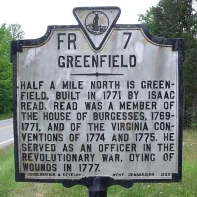Greenfield Marker image. Click for full size.
