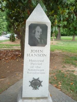 John Hanson Marker - Panel 1, east face of oblisk image. Click for full size.