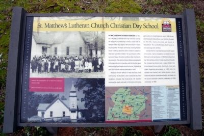 St. Matthew's Lutheran Church Christian Day School CRIEHT Marker image. Click for full size.