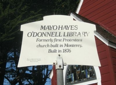 Mayo Hayes O'Donnell Library Marker image. Click for full size.