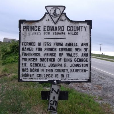 Prince Edward County Marker (obverse) image. Click for full size.