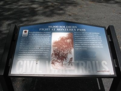 10,000 Soldiers Fight at Monterey Pass Marker image. Click for full size.
