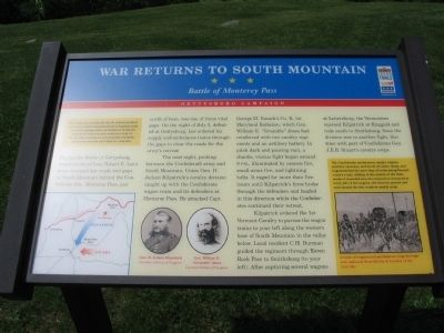 War Returns to South Mountain Marker image. Click for full size.