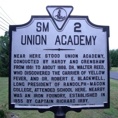 Union Academy Marker image. Click for full size.