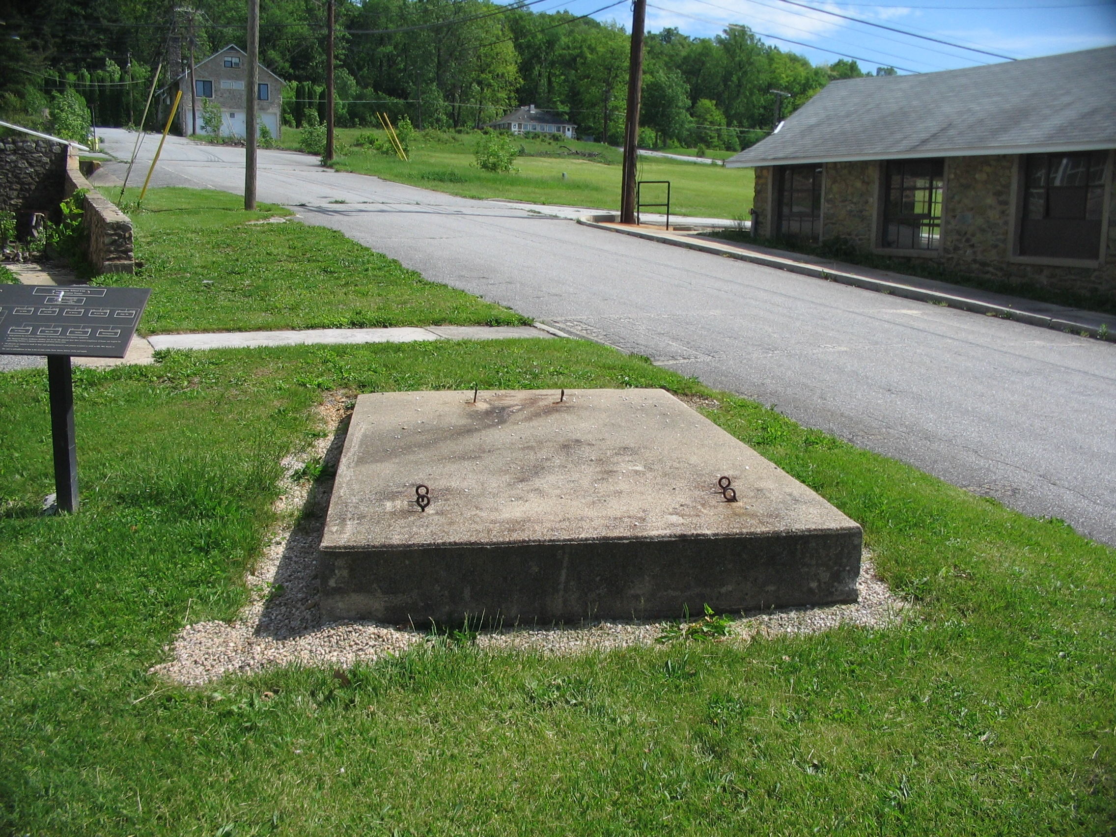 Concrete Pad for Anti-Tank Gun