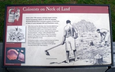 Colonist on Neck of Land panel image. Click for full size.