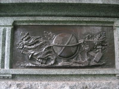 Bronze Relief on the Granite Pedestal image. Click for full size.