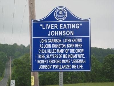 �liver eating� johnson historical marker