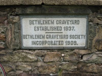 Bethlehem Baptist Church Cemetery Wall image. Click for full size.
