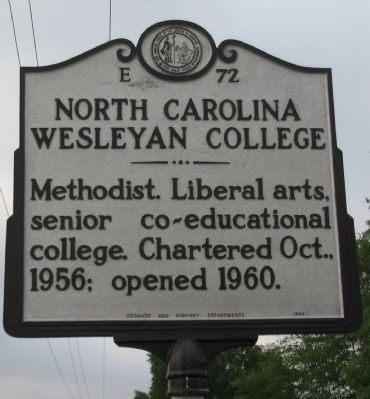 North Carolina Wesleyan College Marker image. Click for full size.