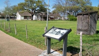 LBJ Boyhood Home Marker image. Click for full size.