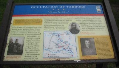 Occupation of Tarboro Marker image. Click for full size.