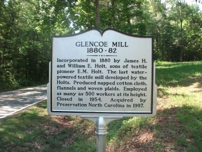 Glencoe Mill Marker image. Click for full size.