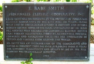 E. Babe Smith Marker image. Click for full size.