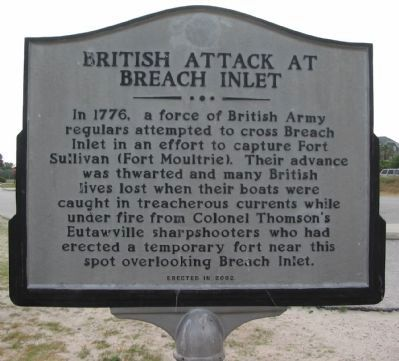 British Attack at Breach Inlet Side image. Click for full size.