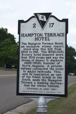 Hampton Terrace Hotel Marker image. Click for full size.